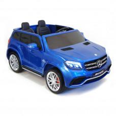Детский электромобиль Mercedes-Benz GLS63 AMG, ПОЛНЫЙ ПРИВОД, с резиновыми колёсами и пультом управления