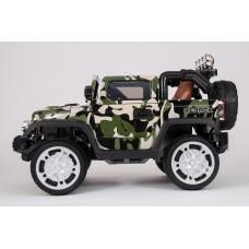 Детский электромобиль Jeep Wrangler, с резиновыми колёсами и пультом управления