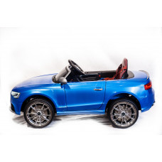 Детский электромобиль Audi RS5, с резиновыми колёсами, пультом управления и регулировкой сиденья