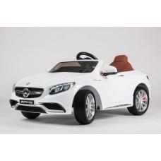 Детский электромобиль Mercedes-Benz S63 AMG, с резиновыми колёсами и пультом управления